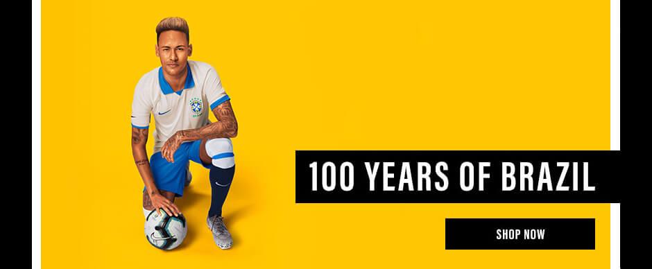 Brazil 100th Anniversary Soccer Jersey