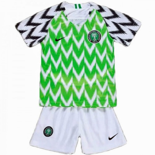Nigeria Home Kids Football Kit 2018