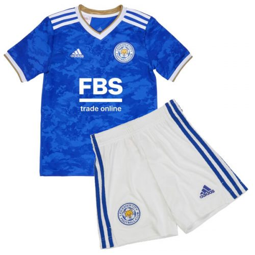 Leicester City Home Kids Football Kit 21 22