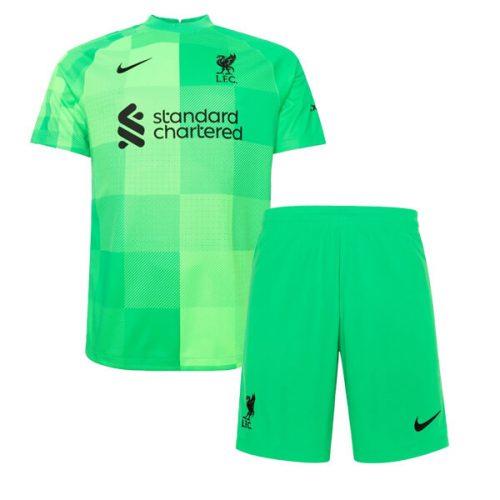 Liverpool Home Goalkeeper Kids Football Kit 2122