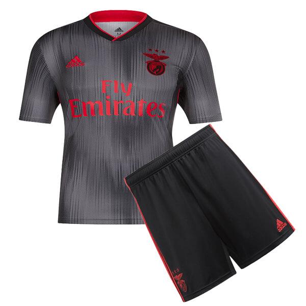 sports shoes 5d4ce 0df25 SL Benfica Away Kids Football Kit 19/20