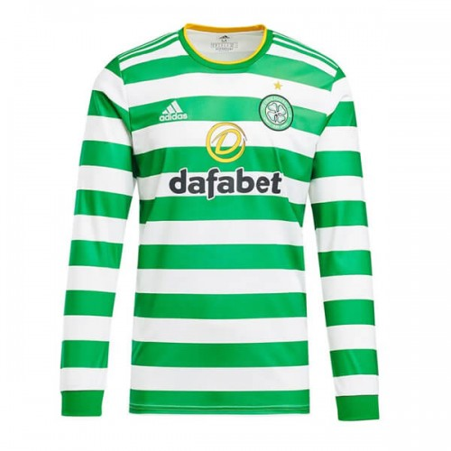 Celtic Home Long Sleeve Football Shirt 20 21