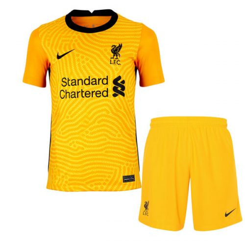 Liverpool Away Kids Goalkeeper Football Kit 20 21