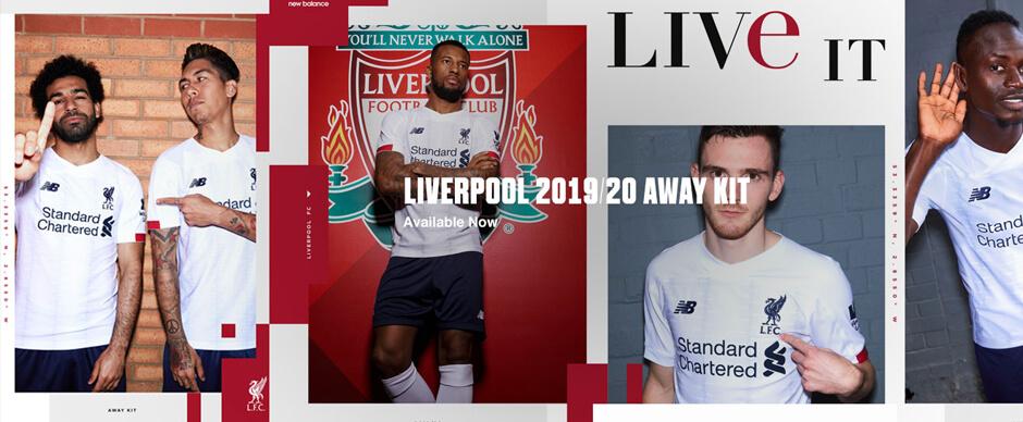 Liverpool Away Football Shirts 19 20