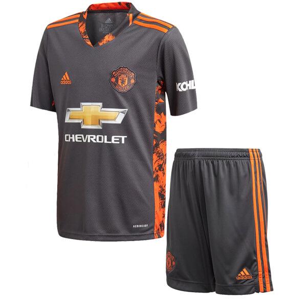 Manchester United Home Goalkeeper Kids Football Kit 2021