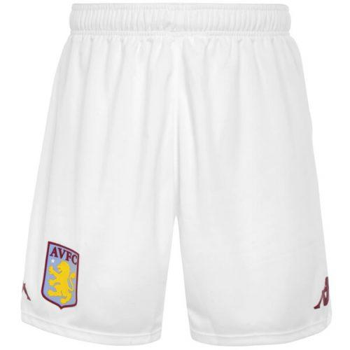 Aston Villa Home Football Shorts 20 21 - White