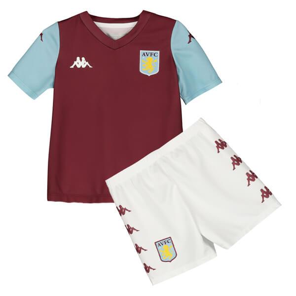 new styles 2bcb2 e9ef6 Aston Villa Home Kids Football Kit 19/20