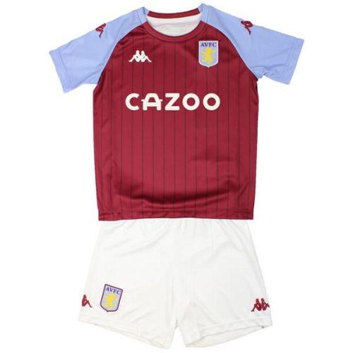 Aston Villa Home Kids Football Kit 20 21