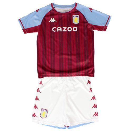 Aston Villa Home Kids Football Kit 21 22