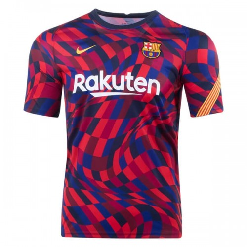 Barcelona Pre Match Training Football Shirt 20 21