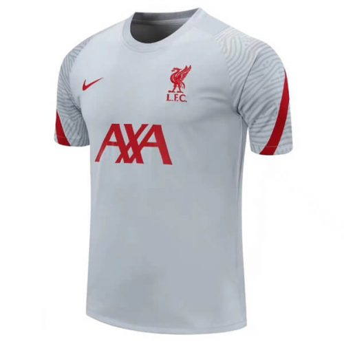 Liverpool Pre Match Training Football Shirt - Grey