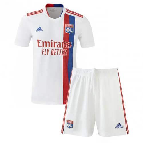 Olympique Lyon Home Kids Football Kit 21 22