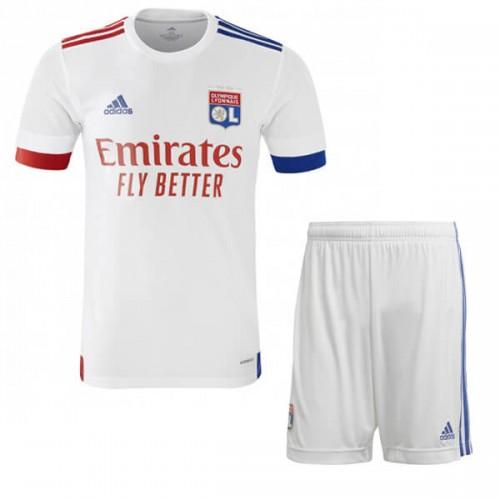 Olympique Lyon Home Kids Football Kit 20 21