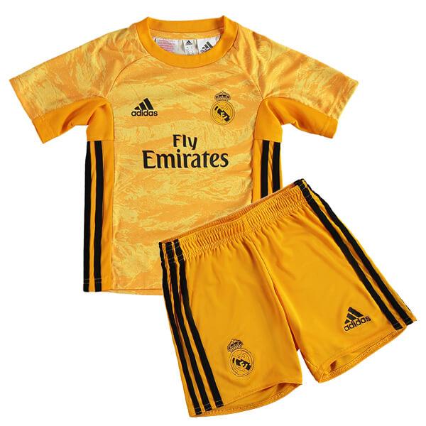 san francisco eebcb 5a5d2 Real Madrid Home Goalkeeper Kids Football Kit 19/20