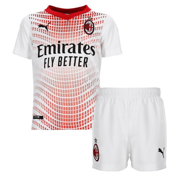 AC Milan Away Kids Football Kit 20/21 - SoccerLord