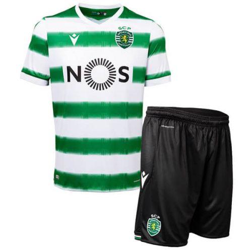 Sporting Lisbon Home Kids Football Kit 20 21
