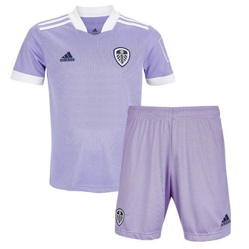 Leeds United Third Kids Football Kit 21 22