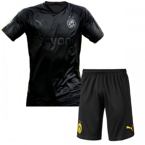 Borussia Dortmund 110 Anniversary Blackout Kids Football Kit 1920