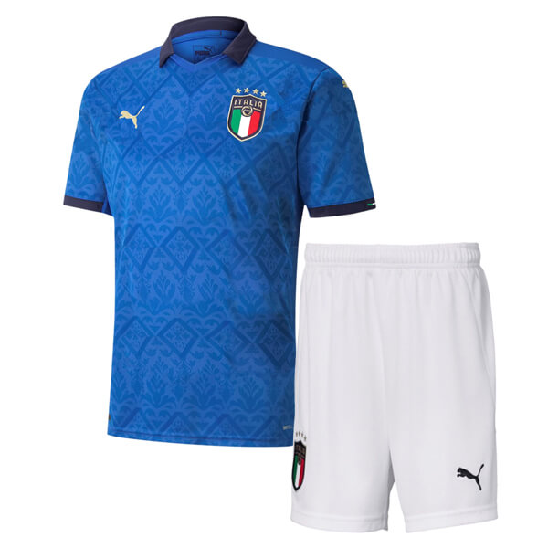 Italy Home Kids Football Kit 2020