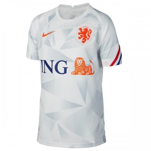 Netherlands 2020 Pre Match Training Football Shirt - White