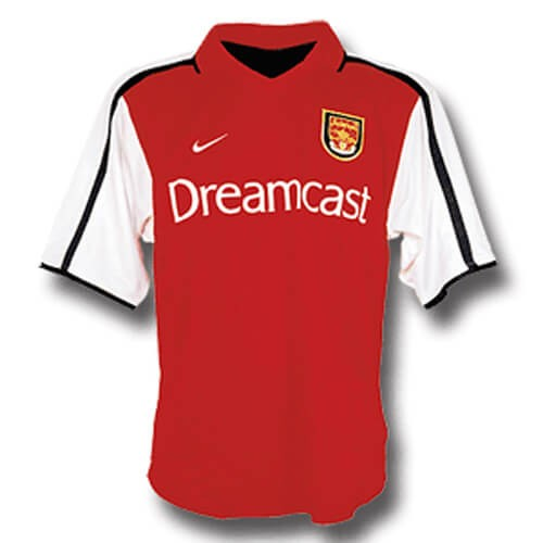 Retro Arsenal Home Football Shirt 00 01