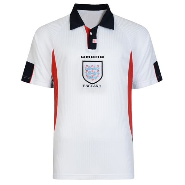Retro England Home Football Shirt 1998