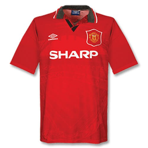 Retro Manchester United Home Football Shirt 94 96