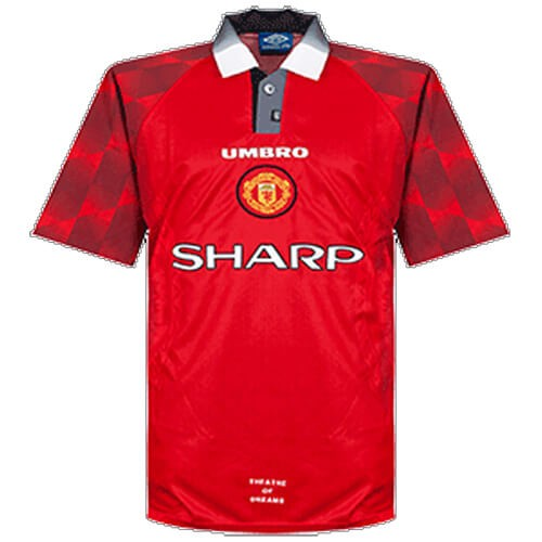 Retro Manchester United Home Football Shirt 96 97
