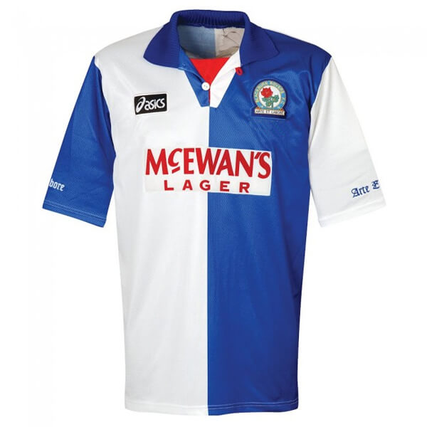 Retro Blackburn Rovers Home Football Shirt 94 96 Soccerlord