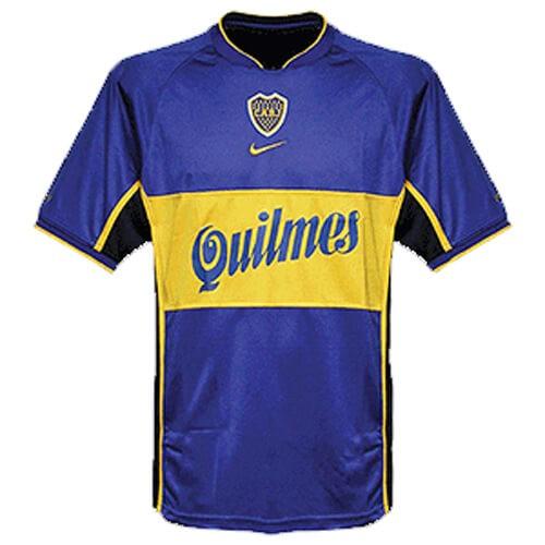 Retro Boca Juniors Home Football Shirt 01 02