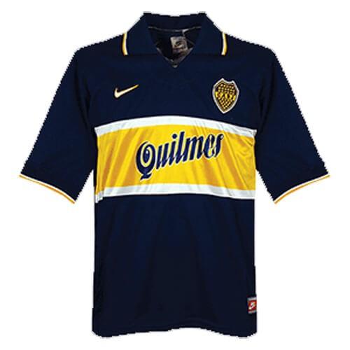 Retro Boca Juniors Home Football Shirt 96 97