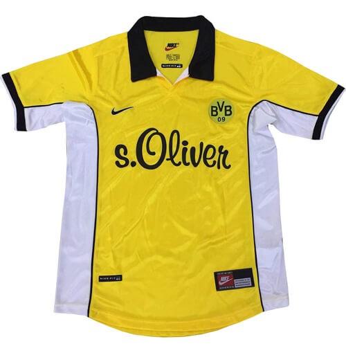 Retro Borussia Dortmund Home Football Shirt 98 00