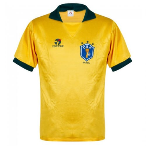 Retro Brazil Home Football Shirt 1988
