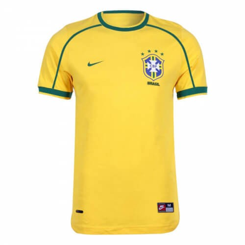 Retro Brazil Home Football Shirt 1998
