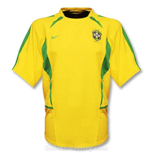 Retro Brazil Home Football Shirt 2002