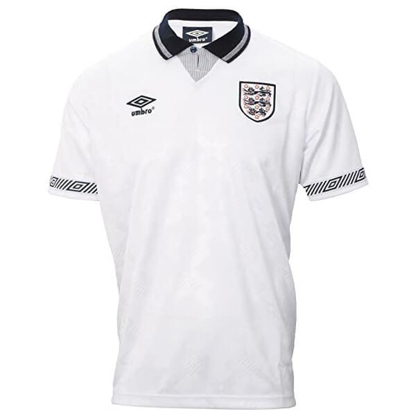 Retro England Home Football Shirt 1990