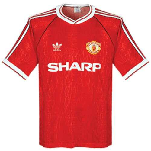 Retro Manchester United Home Football Shirt 90 92