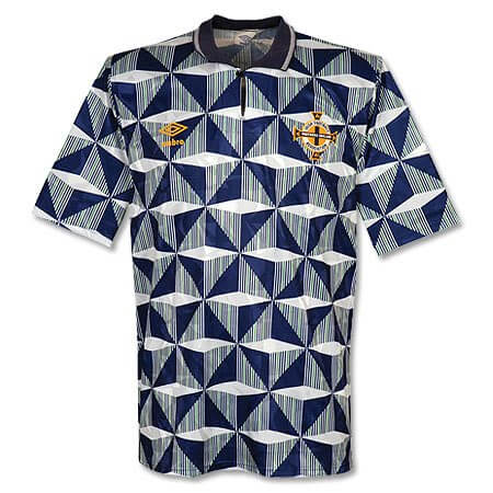 Retro Northern Ireland Away Football Shirt 90 93