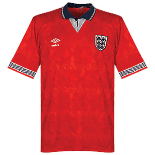 Retro England Away Football Shirt 1990