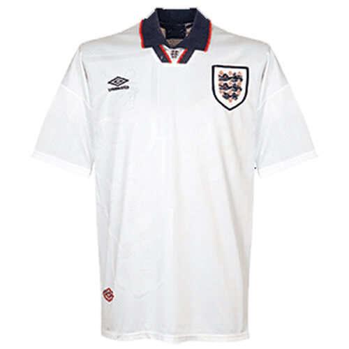 Retro England Home Football Shirt 1994
