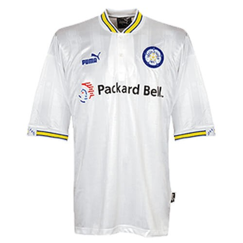 Retro Leeds United Home Football Shirt 96 98