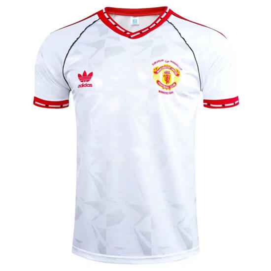 Retro Manchester United European Cup Winners Cup Football Shirt 1991