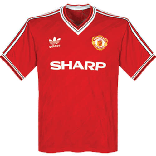 Retro Manchester United Home Football Shirt 1986