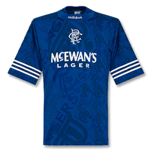 Retro Rangers Home Football Shirt 95 96