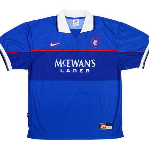 Retro Rangers Home Football Shirt 97 98