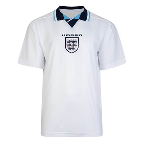 Retro England Home Football Shirt 1996