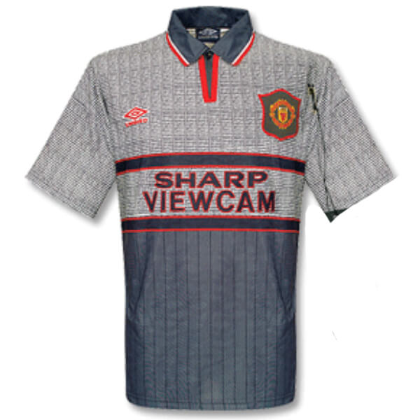 Retro Manchester United Away Football Shirt 95 96