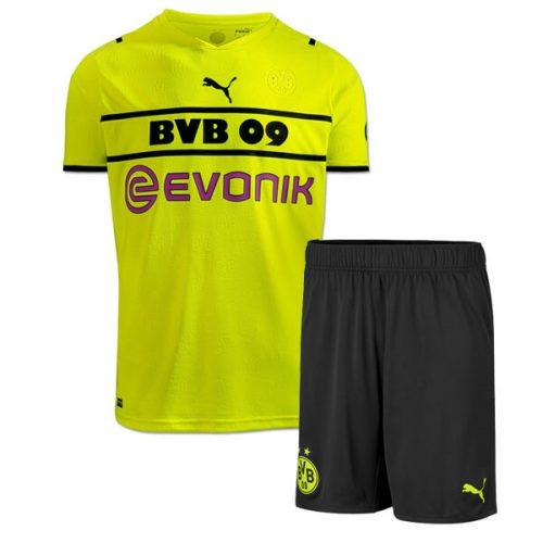 Borussia Dortmund Third Kids Football Kit 21 22