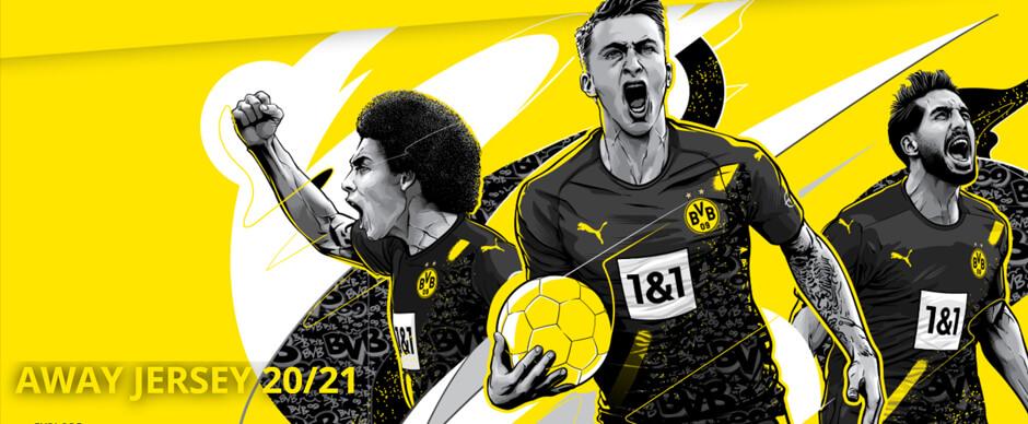 Dortmund Away Football Shirt