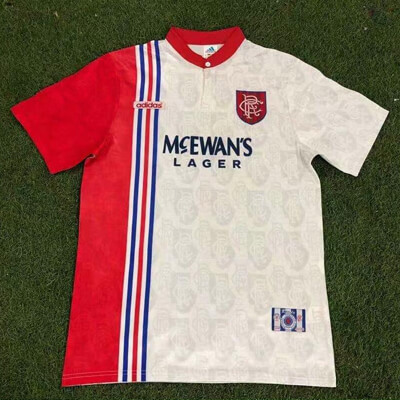Retro Rangers Away Football Shirt 96 97